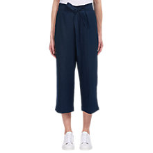 Buy Whistles Tie Waist Straight Leg Trousers, Navy Online at johnlewis.com