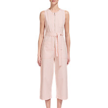 Buy Whistles Alex Tie Jumpsuit, Pale Pink Online at johnlewis.com