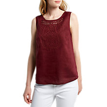 Buy White Stuff Karala Cutwork Vest, Desert Red Plain Online at johnlewis.com