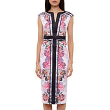 Buy Ted Baker Shawnie Painted Posie Midi Dress, Baby Pink Online at johnlewis.com