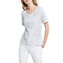 Buy White Stuff Tali Stripe Jersey T-Shirt, White Online at johnlewis.com
