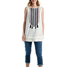 Buy White Stuff Rik Rack Vest, Cream Online at johnlewis.com