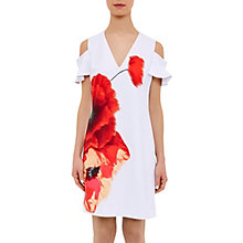 Buy Ted Baker Lola Playful Poppy Tunic Dress, White Online at johnlewis.com