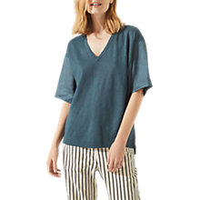 Buy Jigsaw Linen Panel Jumper Online at johnlewis.com