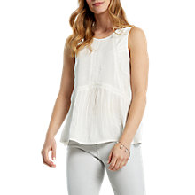 Buy White Stuff Cutabout Vest Top, White Online at johnlewis.com
