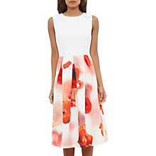 Buy Ted Baker Micla Playful Poppy Bow Dress, White Online at johnlewis.com