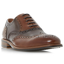 Buy Dune Padron Leather Brogues, Tan Online at johnlewis.com