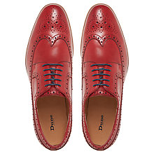 Buy Dune Prague Leather Brogues, Red Online at johnlewis.com