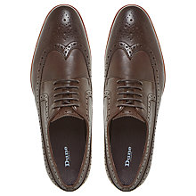 Buy Dune Prague Leather Brogues, Brown Online at johnlewis.com