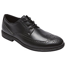 Buy Rockport Madison Wingtip Shoes, Black Online at johnlewis.com