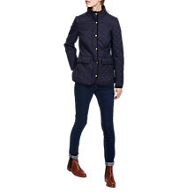 Buy Joules Newdale Quilted Jacket, Marine Navy Online at johnlewis.com