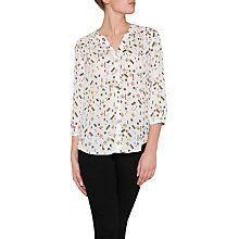 Buy NYDJ Pintuck Pleat Back Geometric Print Blouse, Cavalier Online at johnlewis.com
