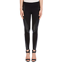 Buy Oui Leatherette Trousers, Black Online at johnlewis.com