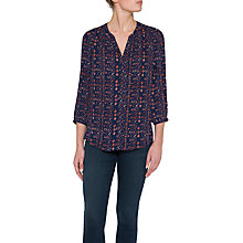 Buy NYDJ Pintuck Pleat Back Geometric Print Blouse, Vintage Memoir Online at johnlewis.com
