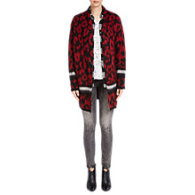 Buy Oui Printed Cardigan, Red/Black Online at johnlewis.com