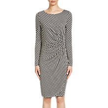Buy Oui Printed Jersey Dress, Black/Camel Online at johnlewis.com