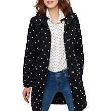Buy Joules Right as Rain Raina Waterproof Printed Parka, Black Spot Online at johnlewis.com