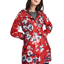 Buy Joules Right as Rain Golightly Pack Away Waterproof Parka, Red Posy Online at johnlewis.com