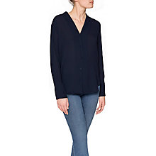 Buy NYDJ Button Through Blouse, Prussian Blue Online at johnlewis.com