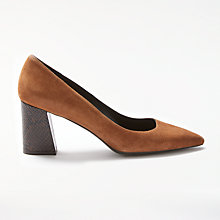 Buy Modern Rarity Adella Angled Block Heeled Court Shoes, Tan Online at johnlewis.com