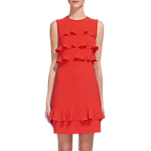 Buy Whistles Bea Frill Front Dress, Coral Online at johnlewis.com