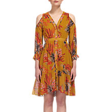 Buy Whistles Cactus Cold Shoulder Dress, Gold/Multi Online at johnlewis.com