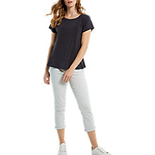 Buy White Stuff Ondine Peplum Jersey T-Shirt, Slate Grey Online at johnlewis.com