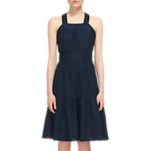 Buy Whistles Cross Back Linen Dress, Navy Online at johnlewis.com