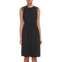 Buy Whistles Crochet Lace Jersey Dress, Black Online at johnlewis.com