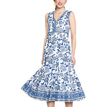 Buy East Anokhi Shirin Sleeveless Dress, Ocean Blue Online at johnlewis.com