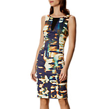 Buy Karen Millen Panelled Abstract Print Pencil Dress, Blue/Multi Online at johnlewis.com