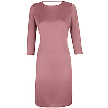 Buy Jaeger Satin Fold Back Dress, Dark Rose Online at johnlewis.com