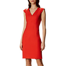 Buy Karen Millen Cut Out Pencil Dress, Orange Online at johnlewis.com