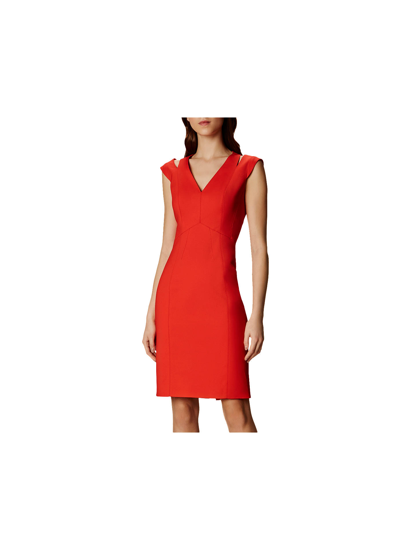 78dfae6d6d Buy Karen Millen Cut Out Pencil Dress, Orange, 6 Online at johnlewis.com ...