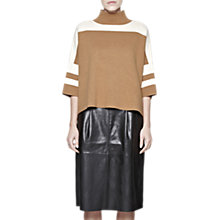 Buy French Connection Mozart Colour Block Jumper, Camel Mel/Classic Cream Online at johnlewis.com