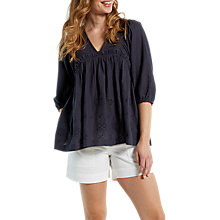 Buy White Stuff Bea Boho Top, Grey Online at johnlewis.com