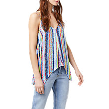 Buy Warehouse Dash Stripe Hanky Hem Camisole, Multi Online at johnlewis.com