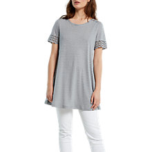 Buy White Stuff Flossie Stripe Jersey, Dove Grey Online at johnlewis.com