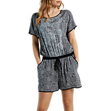 Buy White Stuff Santorini Floral Playsuit, Grey Online at johnlewis.com