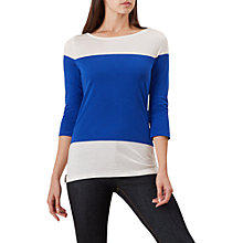 Buy Hobbs Angelica Colour Block T-Shirt, Marine Blue Online at johnlewis.com