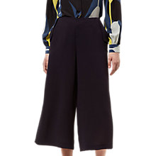 Buy Jaeger Crepe Lip Detail Trousers, Midnight Online at johnlewis.com