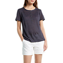 Buy White Stuff Violetta Sands Linen Jersey T-Shirt, Grey Online at johnlewis.com