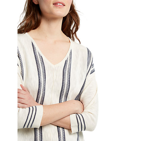 Buy White Stuff Shore Stripe Knitted Tunic, Neutral Online at johnlewis.com