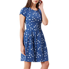 Buy Hobbs Karen Bird Print Dress, Indigo Multi Online at johnlewis.com