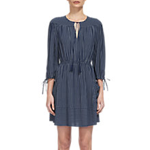 Buy Whistles Eleri Stripe Dress, Navy Online at johnlewis.com