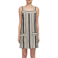 Buy Whistles Cici Cotton-Linen Stripe Dress, Cream/Multi Online at johnlewis.com