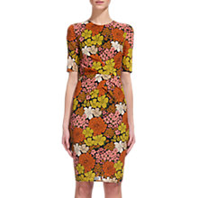 Buy Whistles Phoebe Tangerine Dream Bodycon Dress, Orange/Multi Online at johnlewis.com