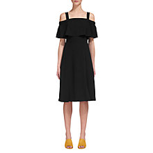 Buy Whistles Piper Strap Detail Dress, Black Online at johnlewis.com