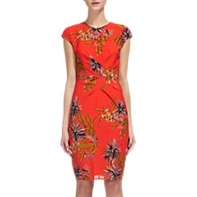 Buy Whistles Cactus Print Bodycon Dress, Coral/Multi Online at johnlewis.com