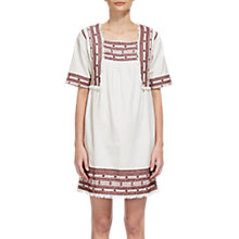 Buy Whistles Selina Embroidered Dress, Ivory/Red Online at johnlewis.com